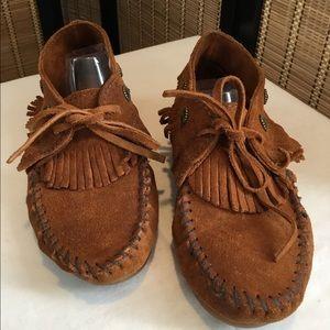 Minnetonka Brown Suede Desert Boots